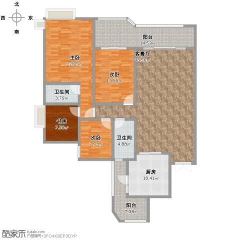 滁州恒大名都4室1厅2卫1厨190.00㎡户型图
