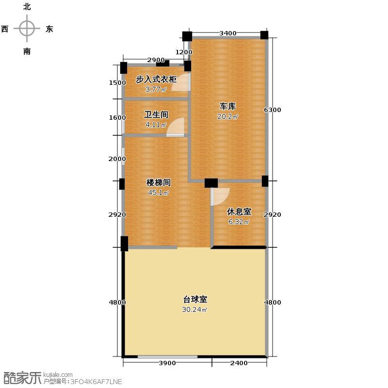 清河湾84.84㎡D1地下室户型10室