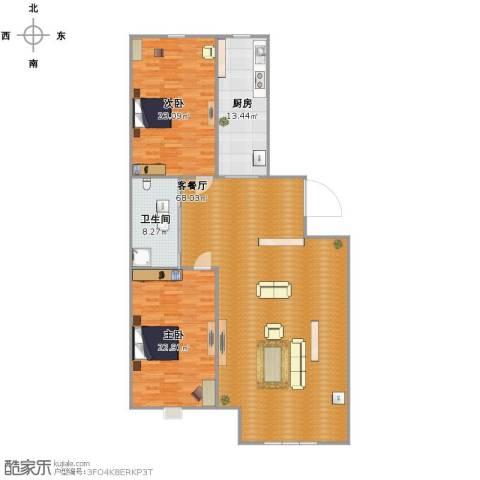 乐活・两岸568庄园2室1厅1卫1厨178.00㎡户型图
