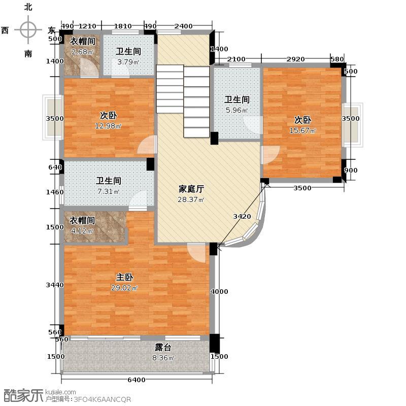 南航碧花园125.27㎡天鹅湖D2+三层户型10室