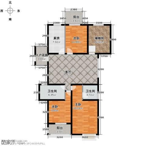 翰林世家4室2厅2卫0厨133.00㎡户型图