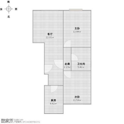 首地・浣溪谷2室1厅1卫1厨78.00㎡户型图