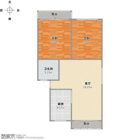 万家花园家和苑2室1厅1卫1厨108.00㎡户型图