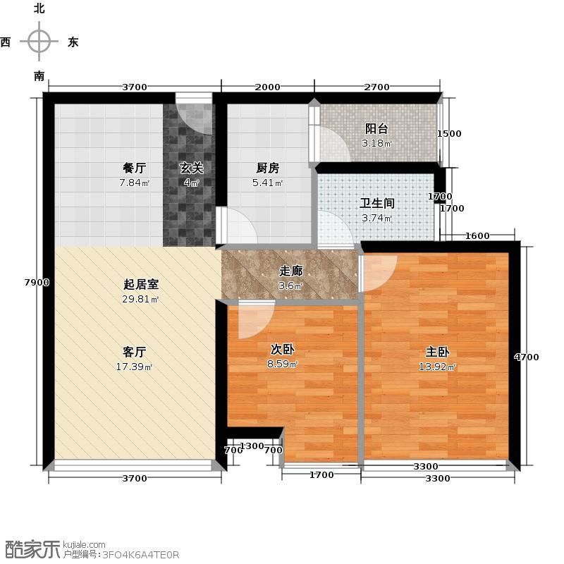 渤海新世界72.97㎡宝升昌广场户型10室