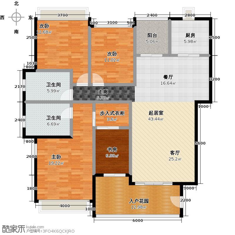 珠光流溪御景150.11㎡林语大街1、2、3、4栋1户型3室2厅2卫
