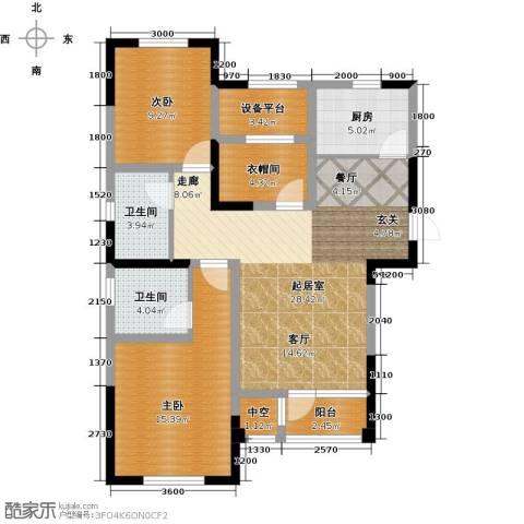 联发第五街2室2厅2卫0厨109.00㎡户型图