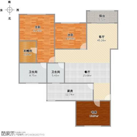 真光新秀3室1厅2卫1厨176.00㎡户型图