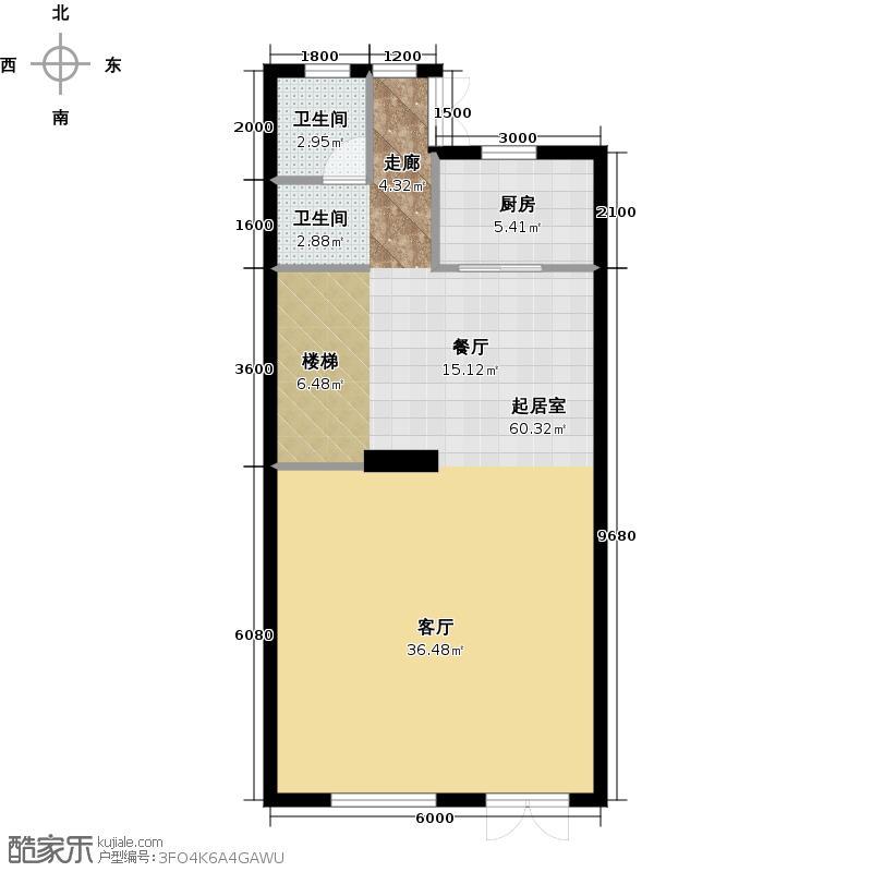 江南山水75.18㎡T2一层户型10室