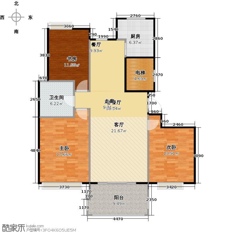 康城国际121.00㎡房型户型10室