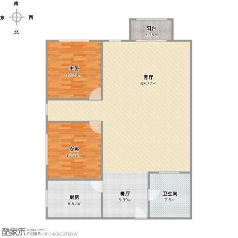 凌三小区2室1厅1卫1厨146.00㎡户型图