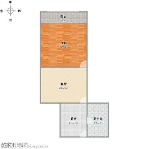 祥德路274弄小区1室1厅1卫1厨96.00㎡户型图