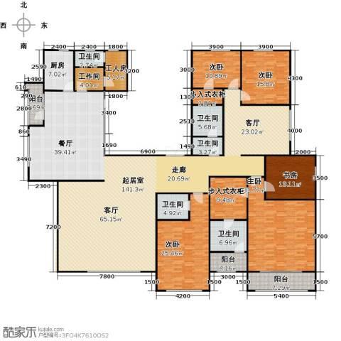 亿利城文澜雅筑5室3厅4卫0厨386.00㎡户型图