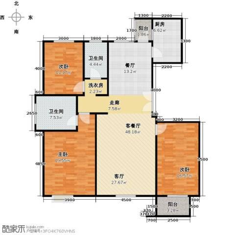 亿利城文澜雅筑3室2厅2卫0厨151.00㎡户型图