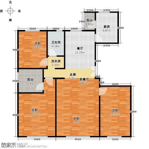 亿利城文澜雅筑3室2厅2卫0厨146.00㎡户型图