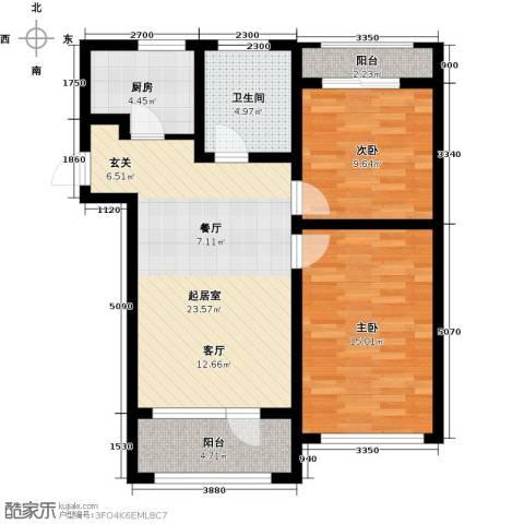 保亿丽景山2室0厅1卫1厨84.00㎡户型图