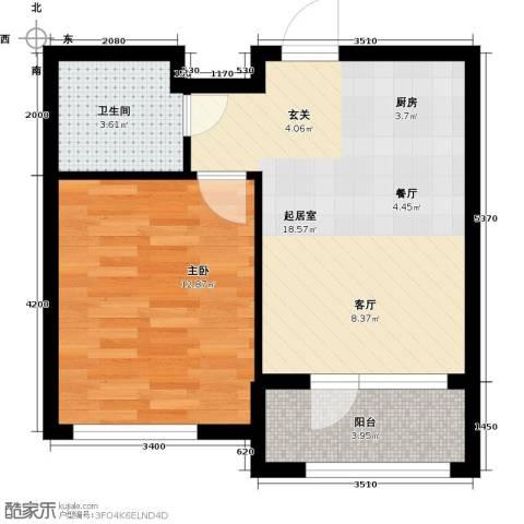 保亿丽景山1室0厅1卫0厨54.00㎡户型图