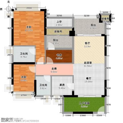 雅居乐凯茵又一城3室2厅2卫0厨108.00㎡户型图