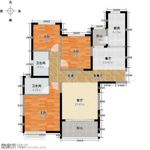 哈尔滨恒大绿洲3室2厅2卫0厨130.00㎡户型图