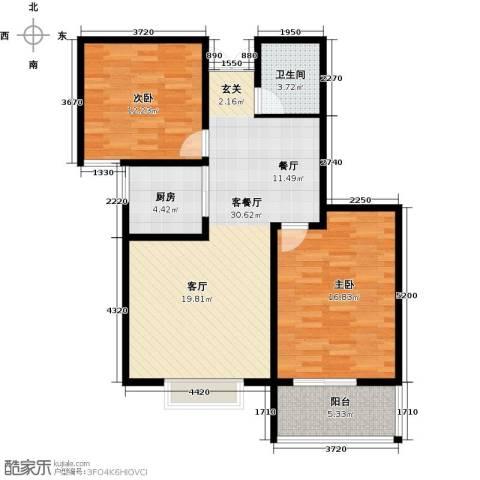 水印城2室2厅2卫0厨82.00㎡户型图