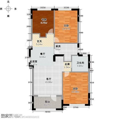 保亿丽景山3室0厅1卫1厨98.00㎡户型图