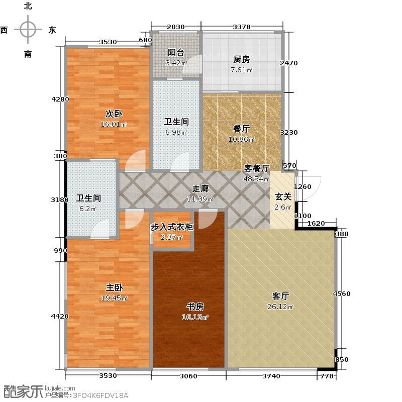 好景山庄142.00㎡A户型3室2厅2卫