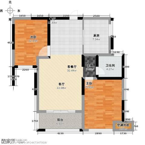 蚌埠绿地中央广场2室2厅1卫0厨90.00㎡户型图