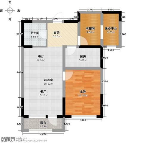联发第五街1室2厅1卫0厨79.00㎡户型图