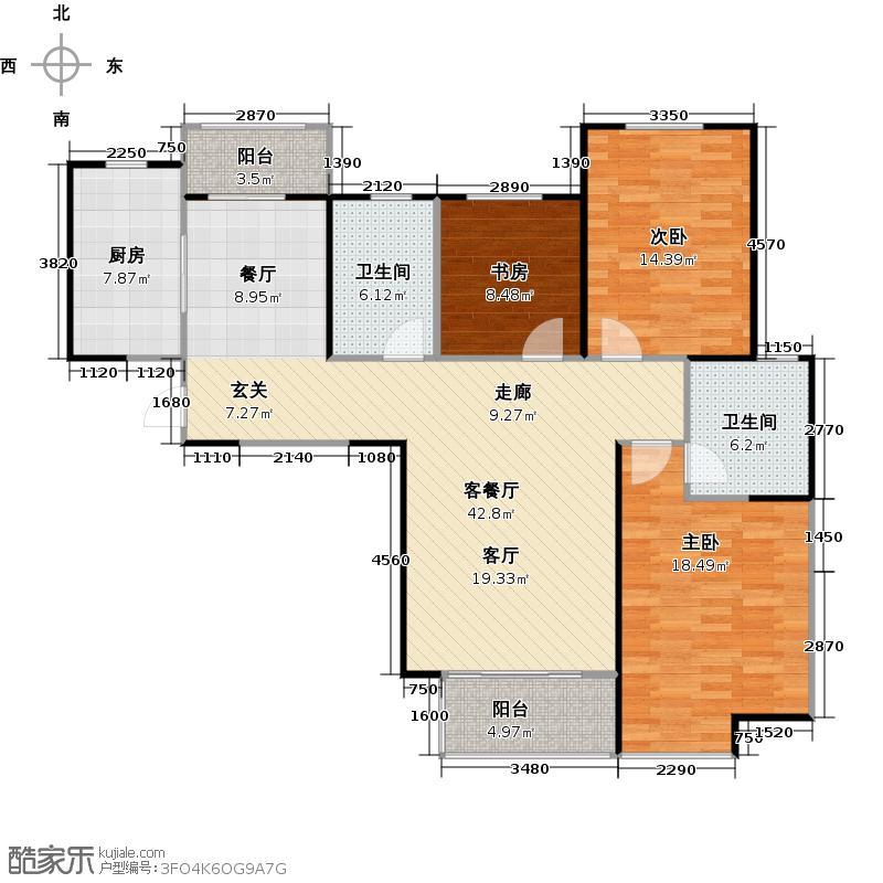 复地悦城121.00㎡精装高层C12+创变户型3室2厅2卫
