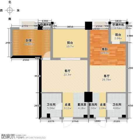 金水湾・城市广场1室1厅1卫0厨82.53㎡户型图