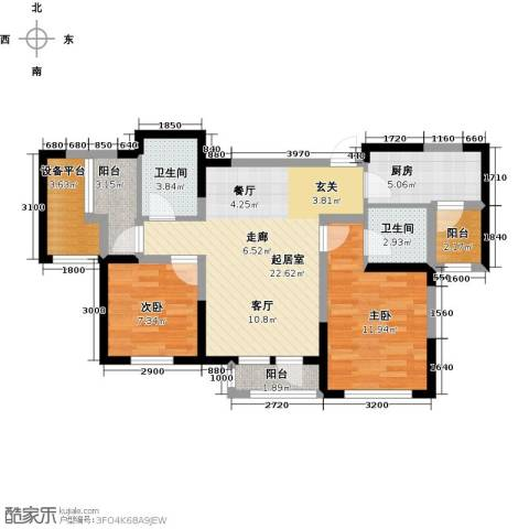 联发第五街2室0厅2卫1厨92.00㎡户型图