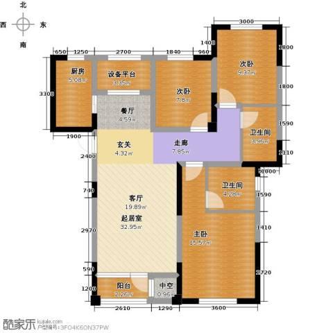 联发第五街3室2厅2卫0厨121.00㎡户型图