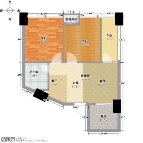 金水湾・城市广场78.00㎡户型图
