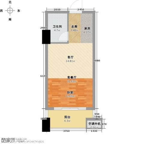 金水湾・城市广场62.00㎡户型图