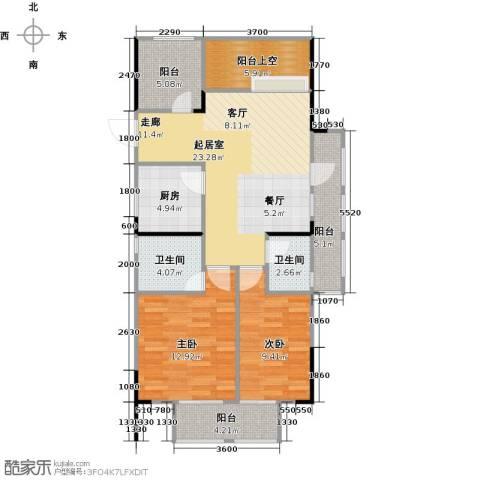 天阳云筑2室2厅2卫0厨88.00㎡户型图