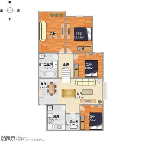 采荷东区4室1厅2卫1厨113.00㎡户型图