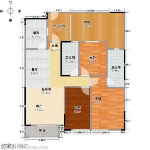 天阳云筑3室2厅2卫0厨116.00㎡户型图