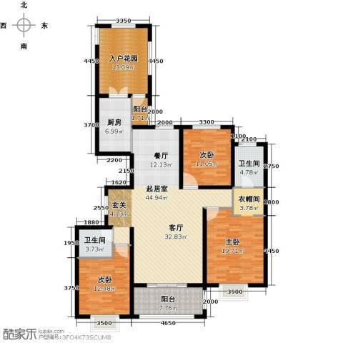 世纪龙庭二期3室2厅2卫0厨138.00㎡户型图