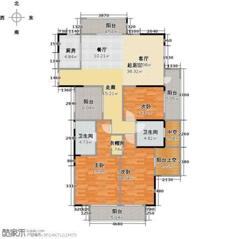 天阳云筑3室2厅2卫0厨138.00㎡户型图