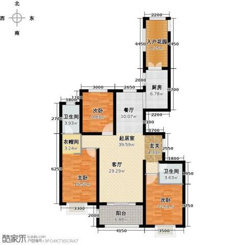 世纪龙庭二期3室2厅2卫0厨147.00㎡户型图