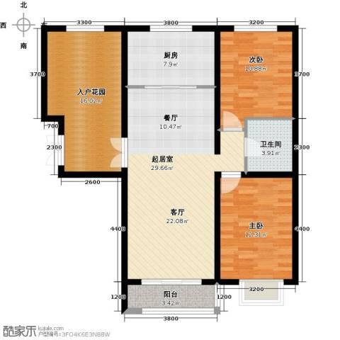 世纪龙庭二期2室2厅1卫0厨110.00㎡户型图