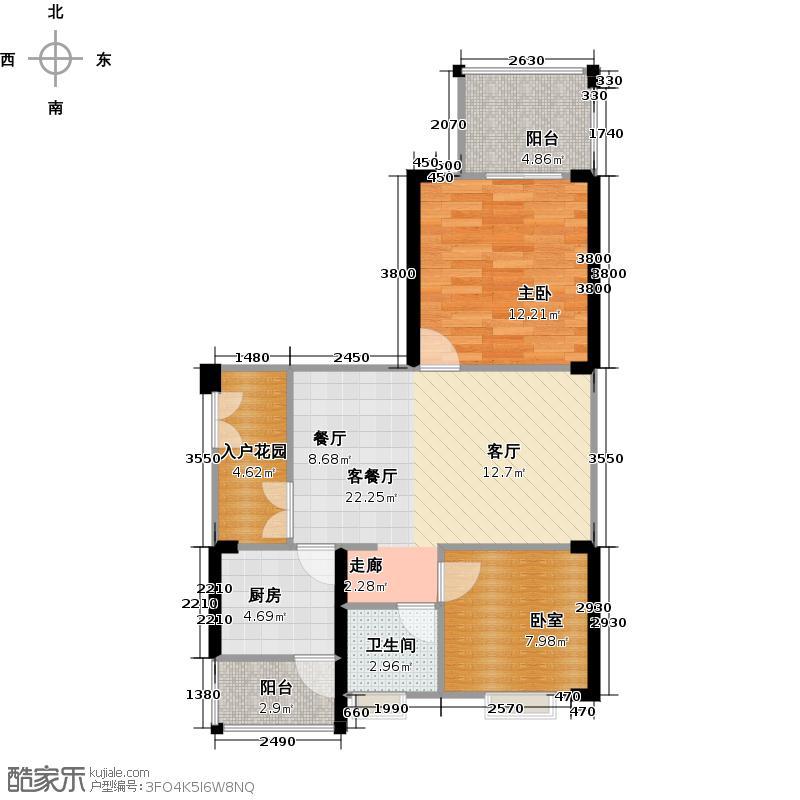 融汇温泉城69.35㎡户型1室1厅1卫1厨