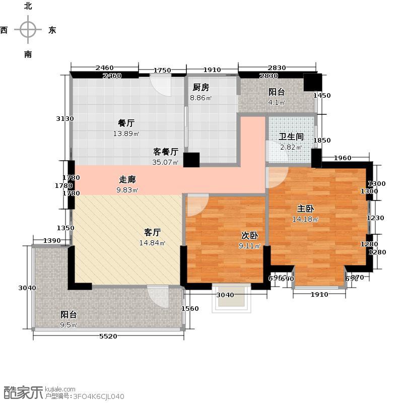 汤泉盛景3.00㎡B3户型10室