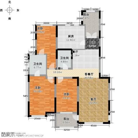 汇置尚都3室2厅2卫0厨164.00㎡户型图