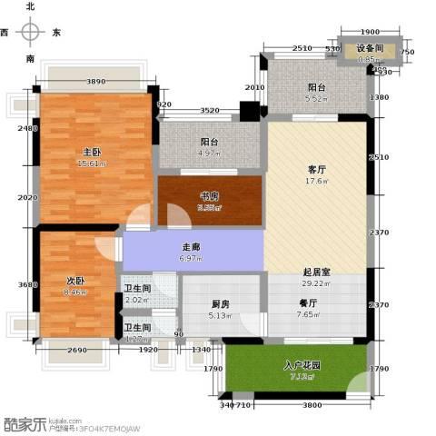 雅居乐凯茵又一城3室2厅2卫0厨100.00㎡户型图