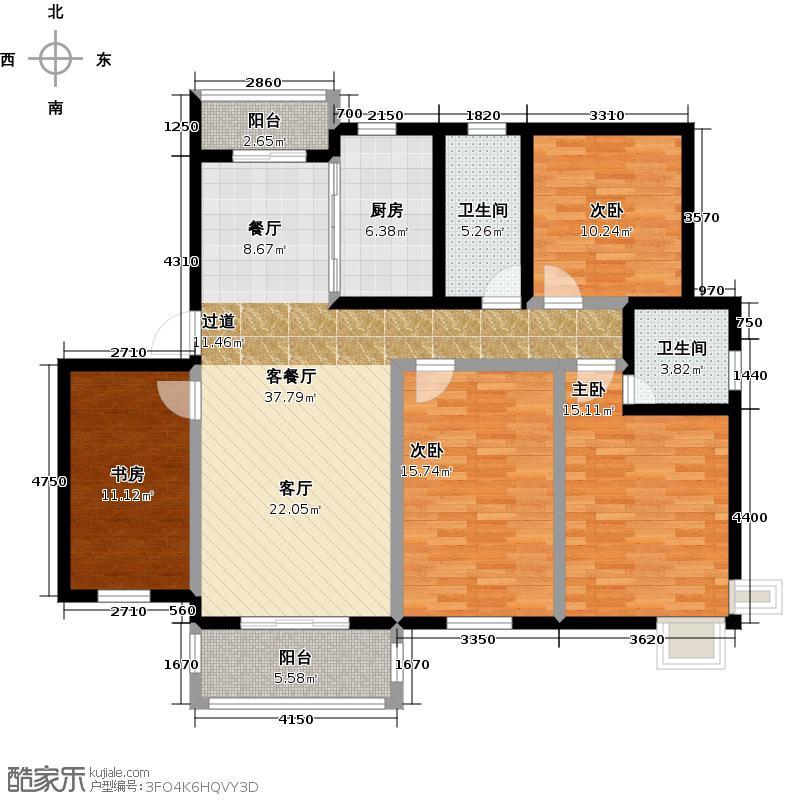 星运丽园137.82㎡13号楼E2户型10室