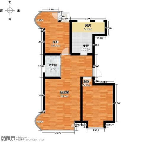 经纬城市绿洲滨海2室1厅1卫0厨93.00㎡户型图