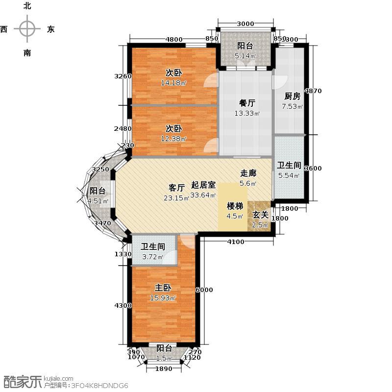 山水LAVIE(山水奥园)131.35㎡C1户型10室