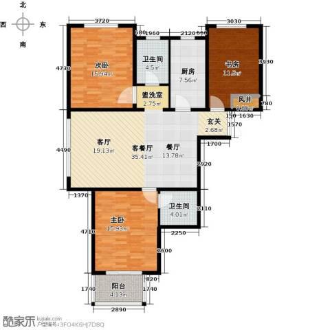 水印城3室2厅2卫0厨111.00㎡户型图