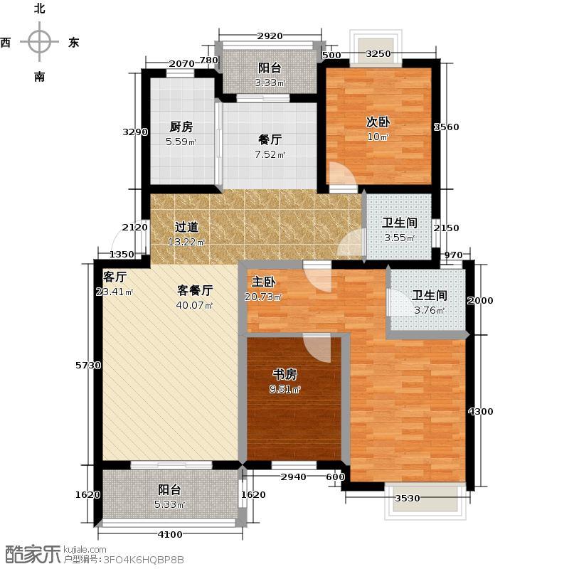 星运丽园121.75㎡7号楼D3户型10室