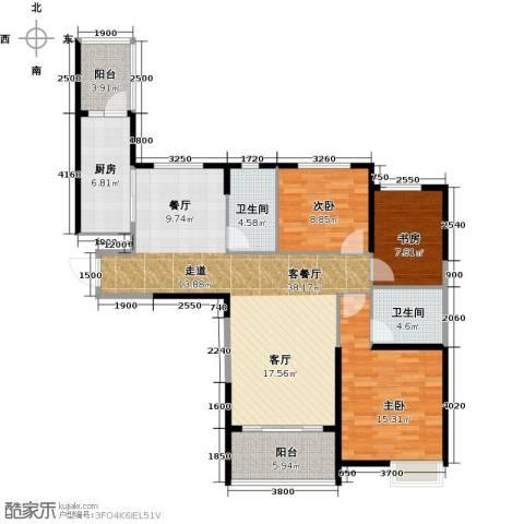 哈尔滨恒大绿洲2室2厅2卫0厨130.00㎡户型图
